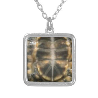 turtle shell silver plated necklace