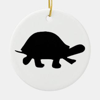 Turtle Silhouette Christmas Ornament