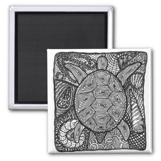 turtle square magnet