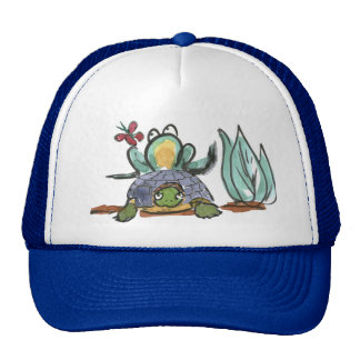 Turtle Step Stool for Frog Eyeing a Butterfly Cap