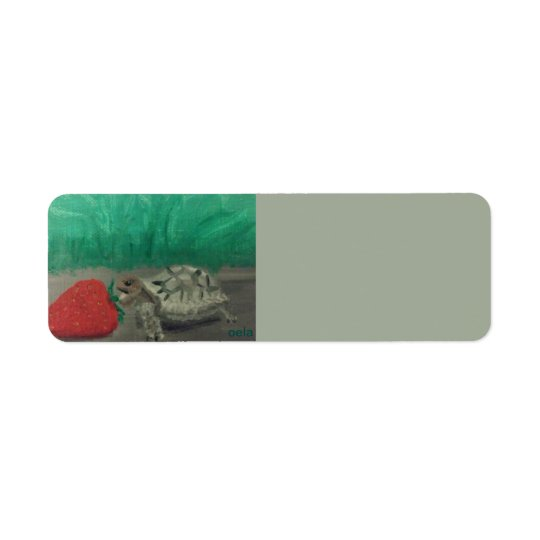 Turtle & Strawberry Address Labels