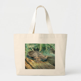 Turtle Sunning on a Log Tote Bags