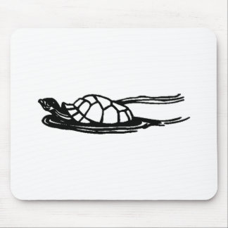Turtle Swimming Mouse Pad