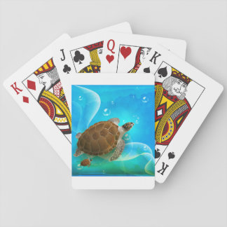 Turtle Swimming Playing Cards