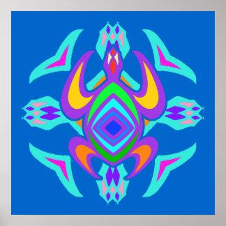 Turtle Symmetry Pattern Posters