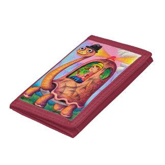 Turtle taxi tri-fold wallet
