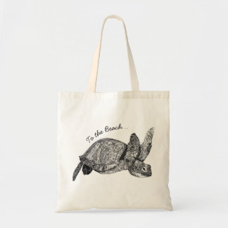 Turtle To The Beach Tote Bag