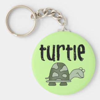 Turtle Tshirts and Gifts Basic Round Button Key Ring