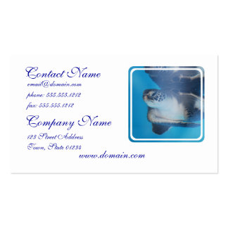 Turtle Underwater Business Cards