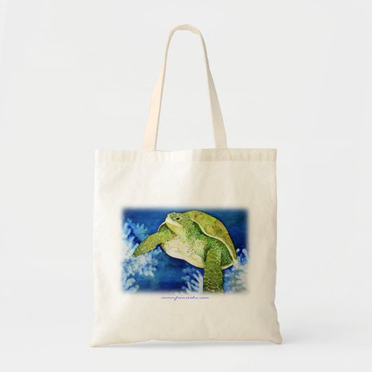 Turtle Watercolor Tote Bag for Shopping, Beach