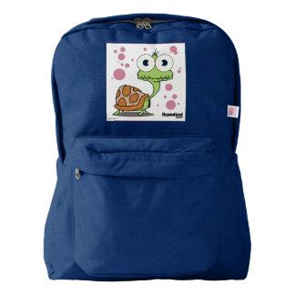 Turtle(White) Backpack, Navy Backpack
