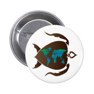 Turtle-world 6 Cm Round Badge