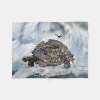 Turtle World Animals Small Fleece Blanket