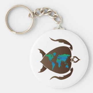 Turtle-world Key Ring