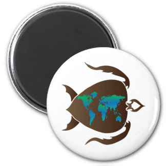 Turtle-world Fridge Magnets