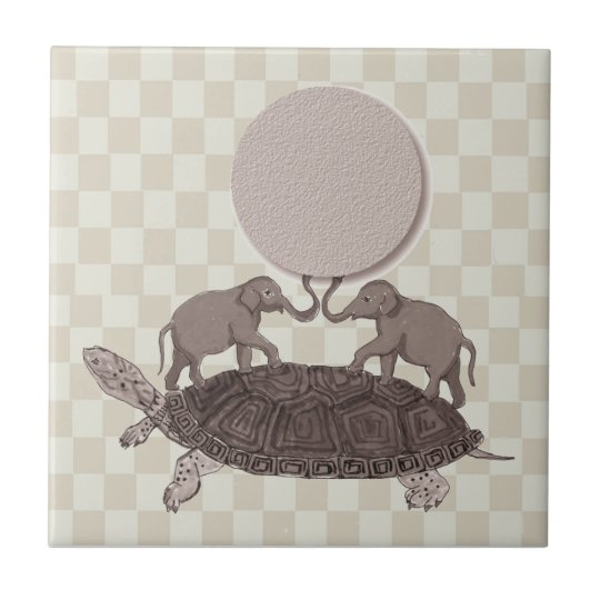 Turtles All the Way Down Tile Trivet