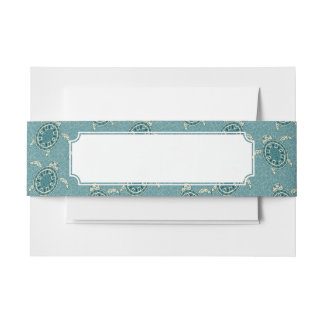turtles background invitation belly band