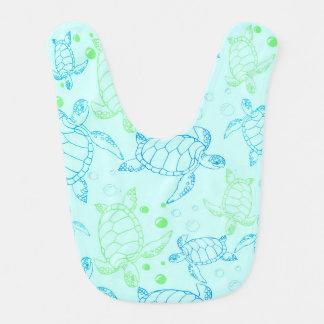 Turtles blue Baby Bib