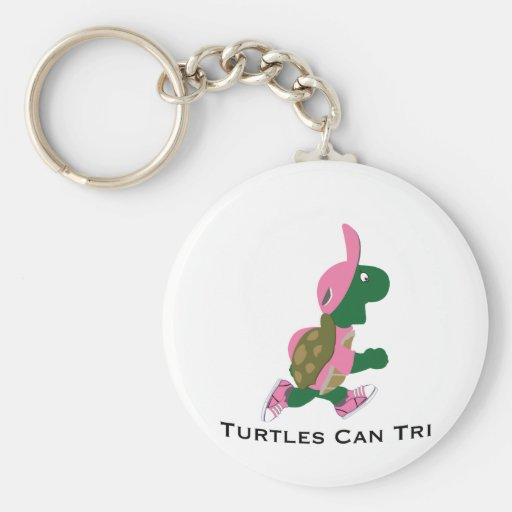 Turtles Can Tri Keychains