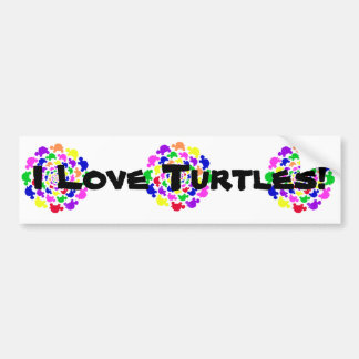 Turtles Go Round Bumper Sticker