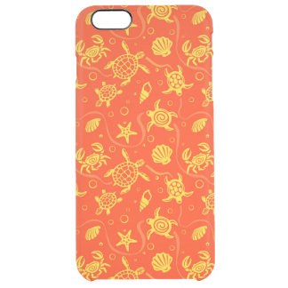Turtles Pattern Clear iPhone 6 Plus Case
