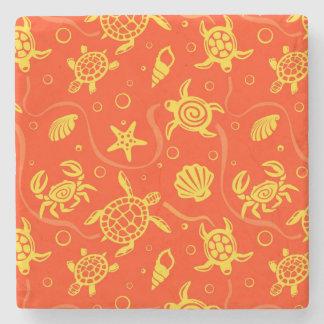 Turtles Pattern Stone Coaster
