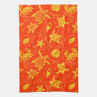 Turtles Pattern Tea Towel