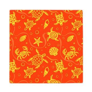 Turtles Pattern Wood Coaster