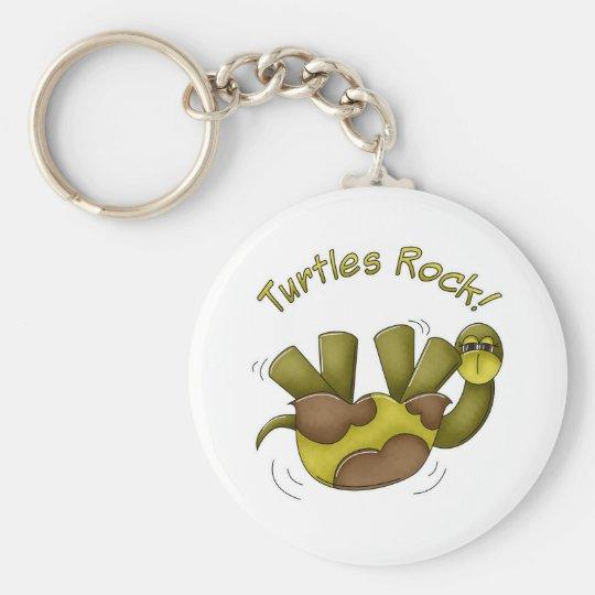 Turtles Rock Basic Round Button Key Ring