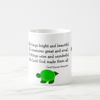 Turtles with Inspirational Quote Basic White Mug