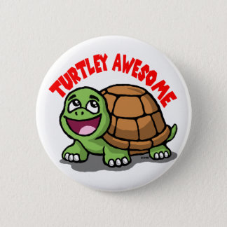 Turtley Awesome 6 Cm Round Badge