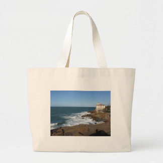 Tuscan coast in winter with Boccale castle Jumbo Tote Bag