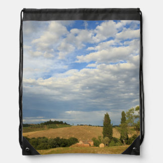 Tuscan countryside Tuscany Central Italy Drawstring Bag