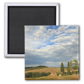 Tuscan countryside Tuscany, Central Italy Square Magnet