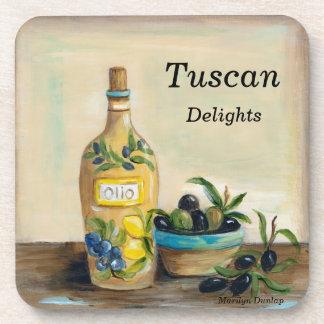 Tuscan Delights Beverage Coasters