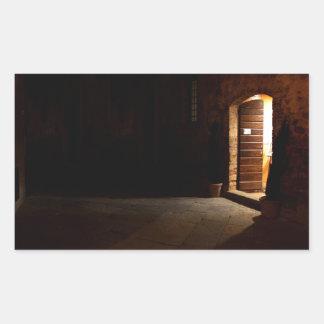 Tuscan doorway at night stickers