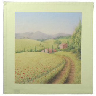Tuscan Farmhouse, Italy In Pastel Cloth Napkins