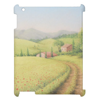 Tuscan Farmhouse, Italy in Pastel iPad Case