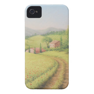 Tuscan Farmhouse, Italy In Pastel iPhone 4 Case