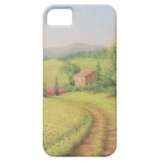 Tuscan Farmhouse, Italy in Pastel iPhone case