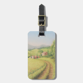 Tuscan Farmhouse, Italy in Pastel Luggage Tag