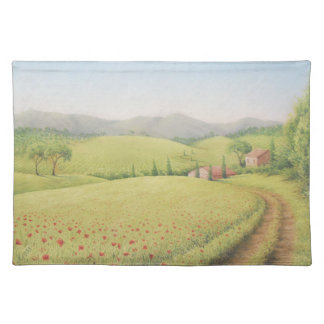 Tuscan Farmhouse, Italy in Pastel Placemat