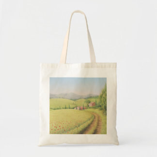 Tuscan Farmhouse, Italy in Pastel Tote Bag