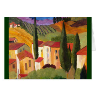 Tuscan Hillside by Artist Therese Fowler-Bailey Greeting Cards