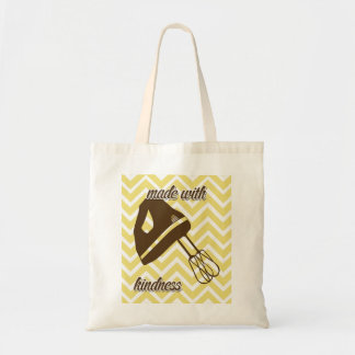 tuscan kitchen - Hand mixer on chevron. Budget Tote Bag