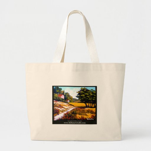 Tuscan Poppies Canvas Bags