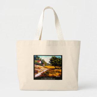 Tuscan Poppies Jumbo Tote Bag
