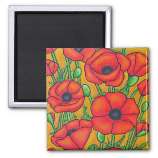 Tuscan Poppies Magnet