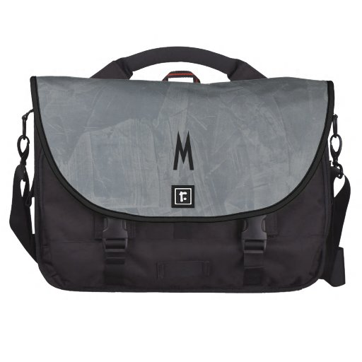 Tuscan Slate Faux Stone Monogram Bags For Laptop