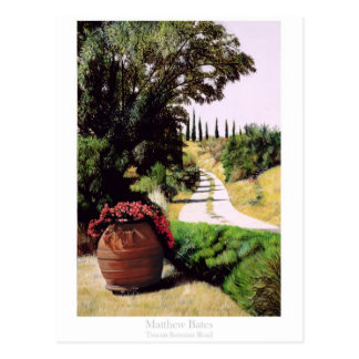 Tuscan Summer Road Postcard